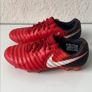 ✅Boys Nike Tiempo FLYKNIT ACC Soccer Shoes 3.5Y